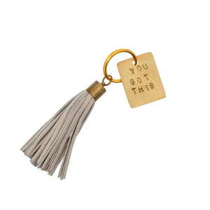 Leather Keychain - Choose Happy | You Got This | You Go Girl | Home | Pause