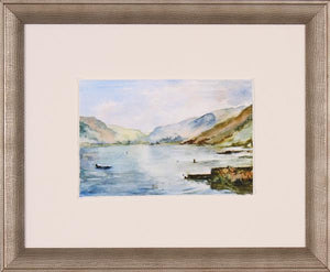 Lake Framed Glass Print