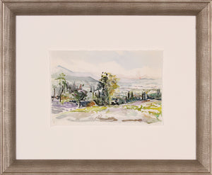 Landscape Framed Glass Print