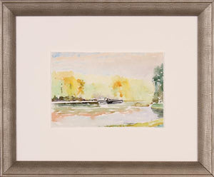 French Landscape II Framed Glass Print