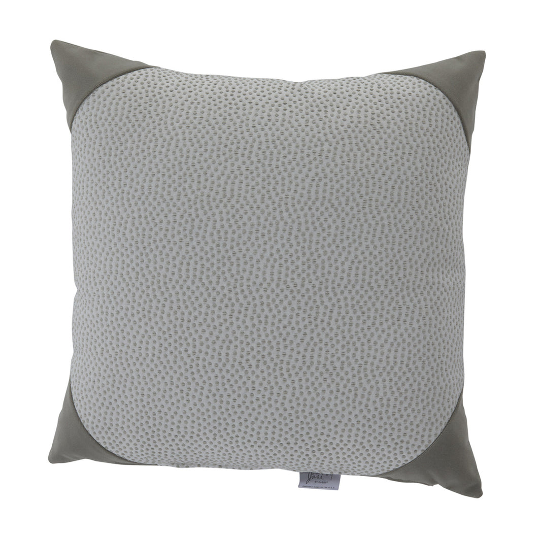 Silver Dots Decorative Pillow