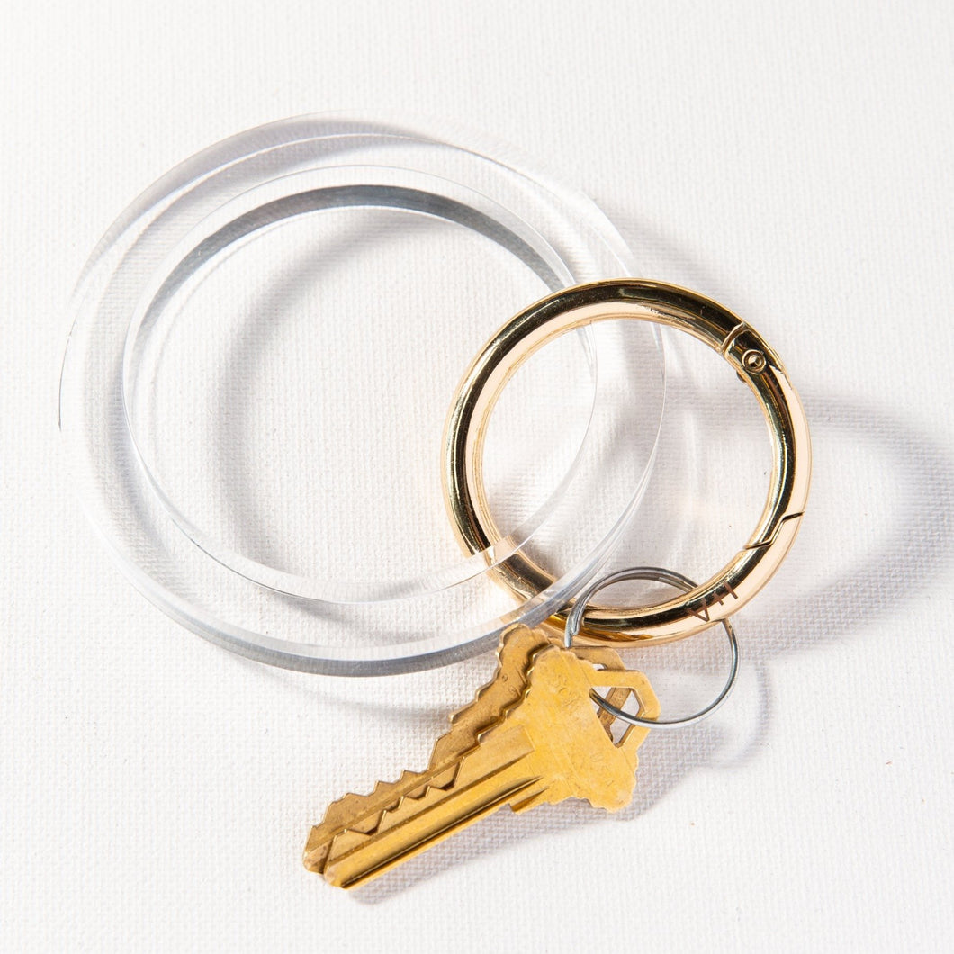 Lucite Key Ring - 5 colors