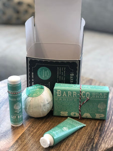 4 Piece Essentials Kit from Barr & Co in Marine, Honeysuckle & Sugar & Cream