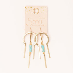 Dream Catcher Stone Earrings