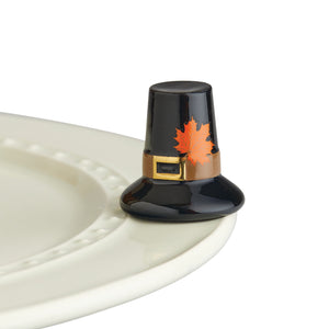 Nora Fleming Minis - Thanksgiving Collection - tiny turkey & pilgrim hat