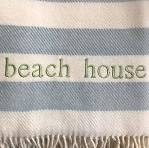 Monogrammed Candy Stripe Throw