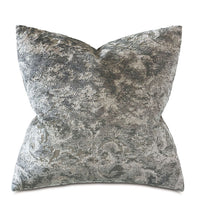 Load image into Gallery viewer, Byzantine Slate Velvet Decorative Pillow