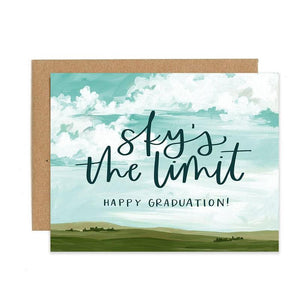 Sky's The Limit Graduation Greeting Card