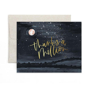 Thanks Starry Night Greeting Card