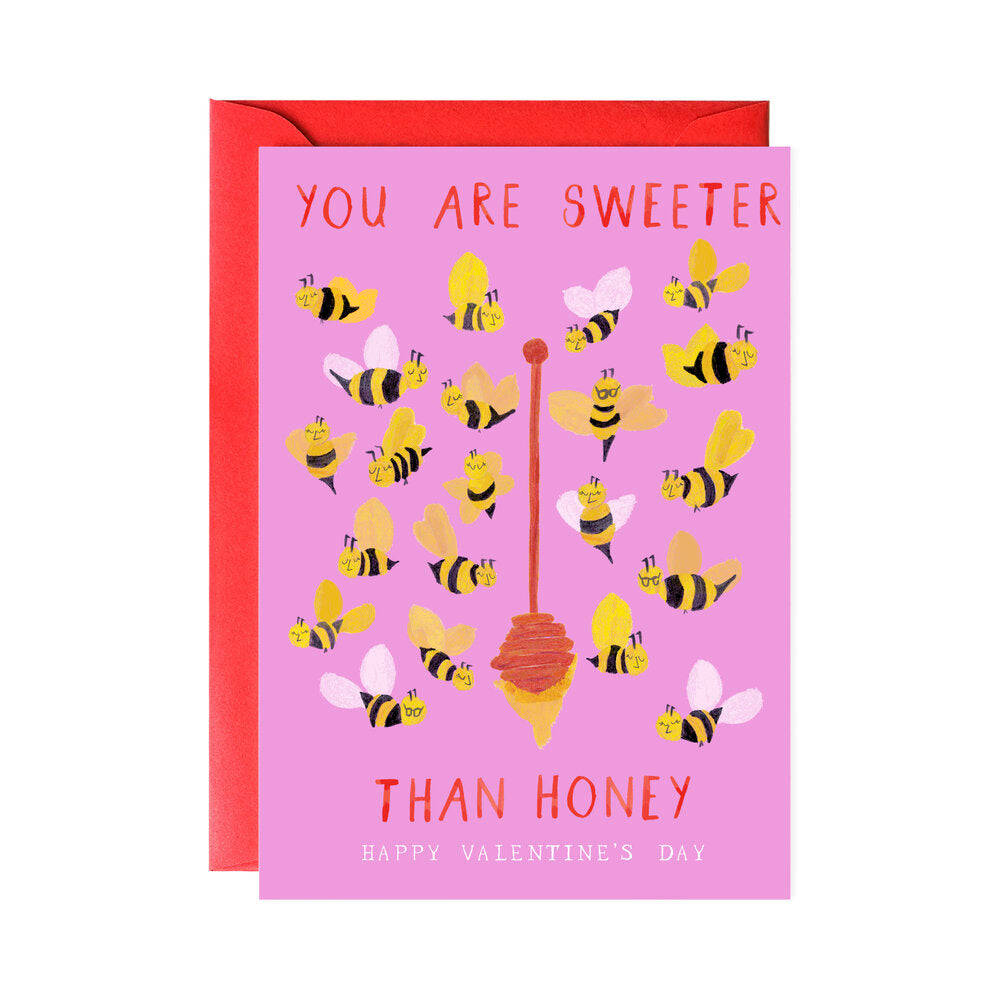 Sweeter Than Honey Valentine's Day Card