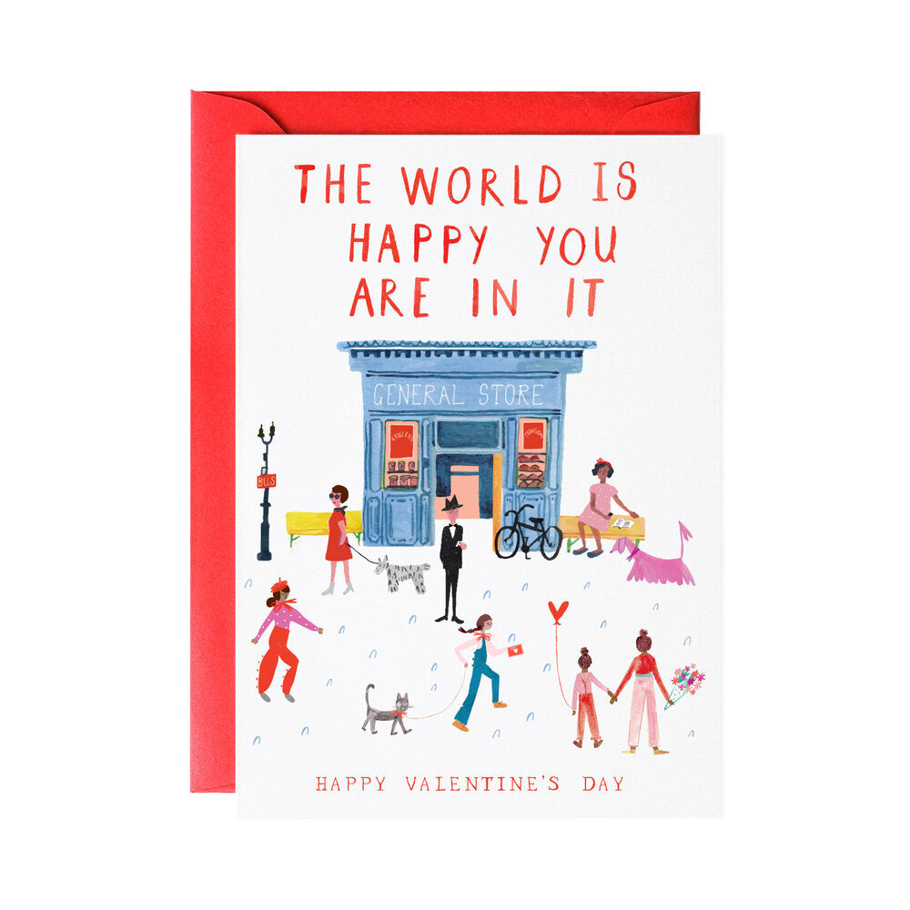 The World Is Happy Valentine's Day Card