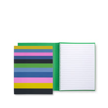 Load image into Gallery viewer, Kate Spade New York Concealed Spiral Notebook, Enchanted Stripe