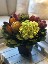 Load image into Gallery viewer, Banksia, Teasil & Hydrangea Preserved Arrangement