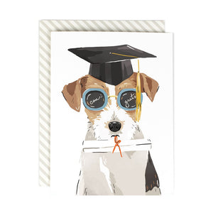 Bright Future Grad Dog Greeting Card