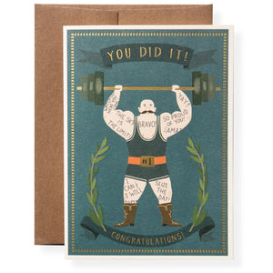 Muscle Man Congratulations Greeting Card