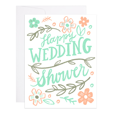 Happy Wedding Shower Greeting Card