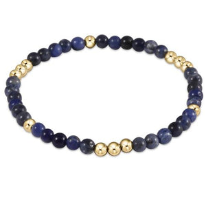 Worthy Pattern Bead Bracelets - Available in Pearl, Riverstone, Sodalite, Rose Quartz & Amazonite