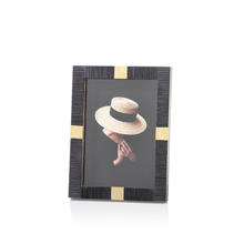 Load image into Gallery viewer, Maha Black Bone with Brass Trim Frame
