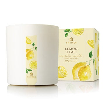 Thymes Lemon Leaf Collection: Candle, Petite Diffuser, Home Fragrance Mist