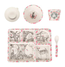 Load image into Gallery viewer, Enchanted Forest Bamboo Divided Plate Set