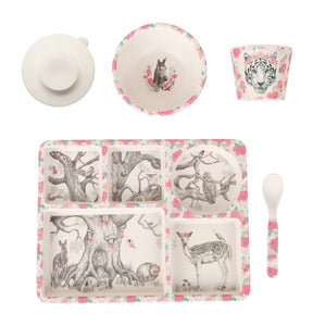Enchanted Forest Bamboo Divided Plate Set
