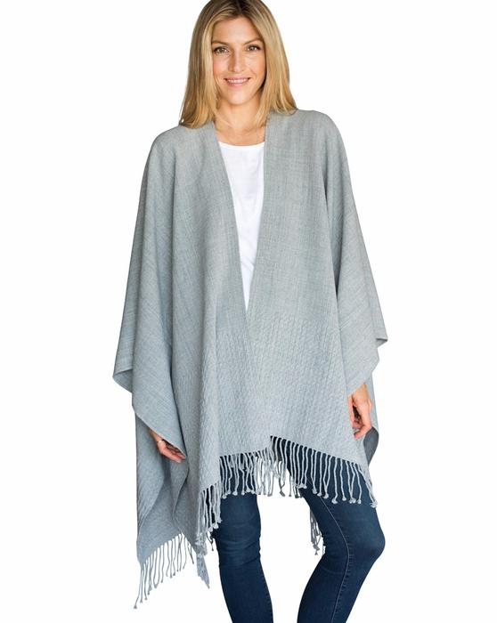 Travel Wraps by Mer-Sea in Fog, Navy, Oyster & Driftwood
