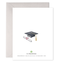 Load image into Gallery viewer, Grad Book Stack Graduation Greeting Card
