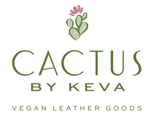 FanFare CACTUS Earrings in Taupe Vegan Leather