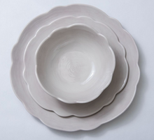 Load image into Gallery viewer, Taupe Scallop Melamine Collection - Salad Plate