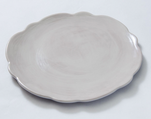 Taupe Scallop Melamine Collection - Salad Plate