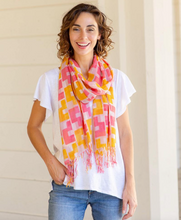 Load image into Gallery viewer, Emerson Pink Featherweight Tassel Scarf