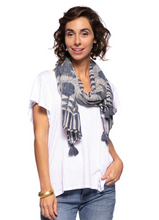 Load image into Gallery viewer, Neema Blue Kimono Wrap/Scarf features