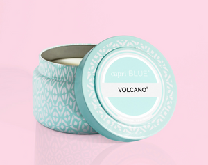 Volcano Aqua Printed Travel Tin