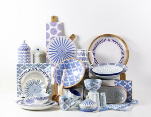 Iris Blue Appetizer Spread by Coton Colors