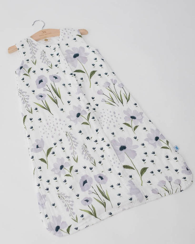 Blue Windflower Cotton Sleep Bag