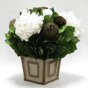 Rose, Banksia, Brunia & Hydrangea Preserved Arrangement