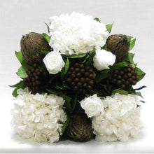 Load image into Gallery viewer, Rose, Banksia, Brunia & Hydrangea Preserved Arrangement