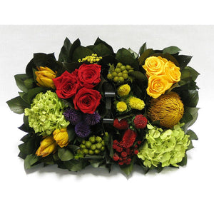 Multicolor Arrangement in Black Basket