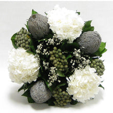 Load image into Gallery viewer, Banksia, Brunia, Phylicia & Hydrangea Preserved Arrangement