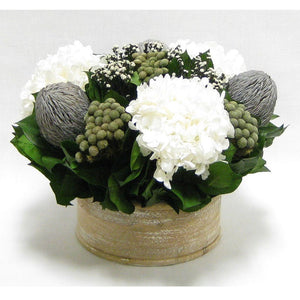 Banksia, Brunia, Phylicia & Hydrangea Preserved Arrangement