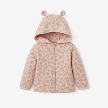 Load image into Gallery viewer, Pink Leopard Hooded Knit Baby Sweater - 2 sizes