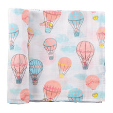 Load image into Gallery viewer, Balloon Muslin Swaddle Blanket