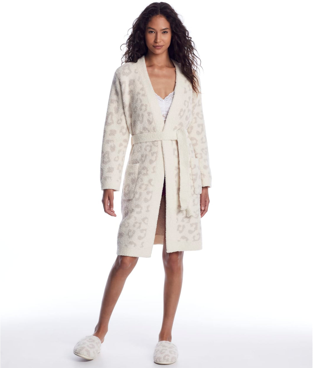 Barefoot Dreams CozyChic Women's Robe - Cream Stone