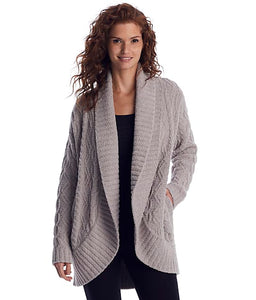 CozyChic® Cable Shawl Cardi by Barefoot Dreams