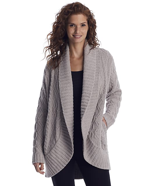 CozyChic® Cable Shawl Cardi in Linen by Barefoot Dreams
