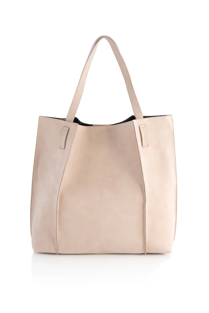 Blair Tote - Blush, Steel & Tan