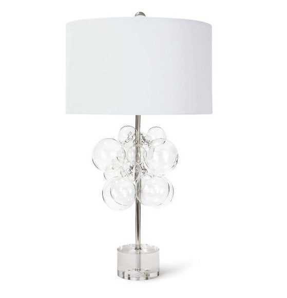 Bubbles Clear Table Lamp