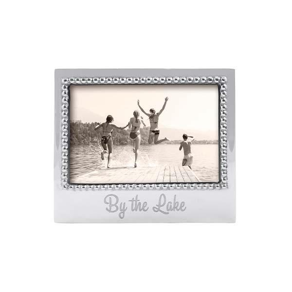 By The Lake Beaded Engraved 4x6 Frame by Mariposa
