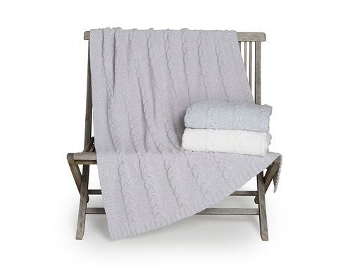Cozychic Heathered Cable Blanket from Barefoot Dreams