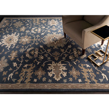 Load image into Gallery viewer, Caesar Navy & Tan Area Rug